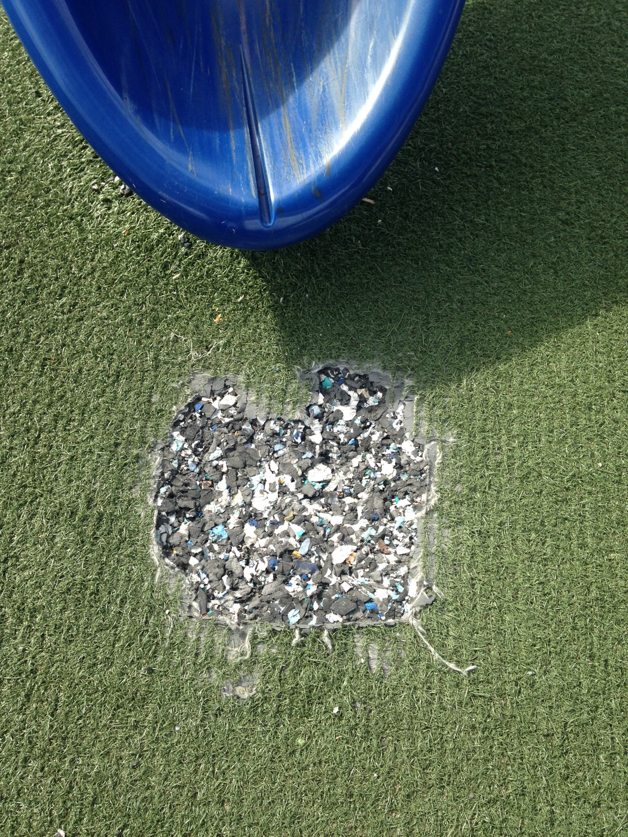 Triax impact testing for playground safety surface inspection